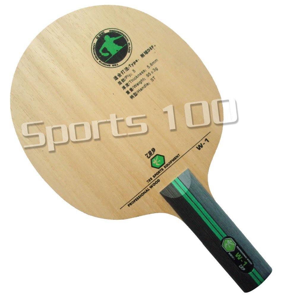 729 W-1 W1 W 1 CHOP DEF + poignée droite Tennis de table de ping-pingong lame Z1120