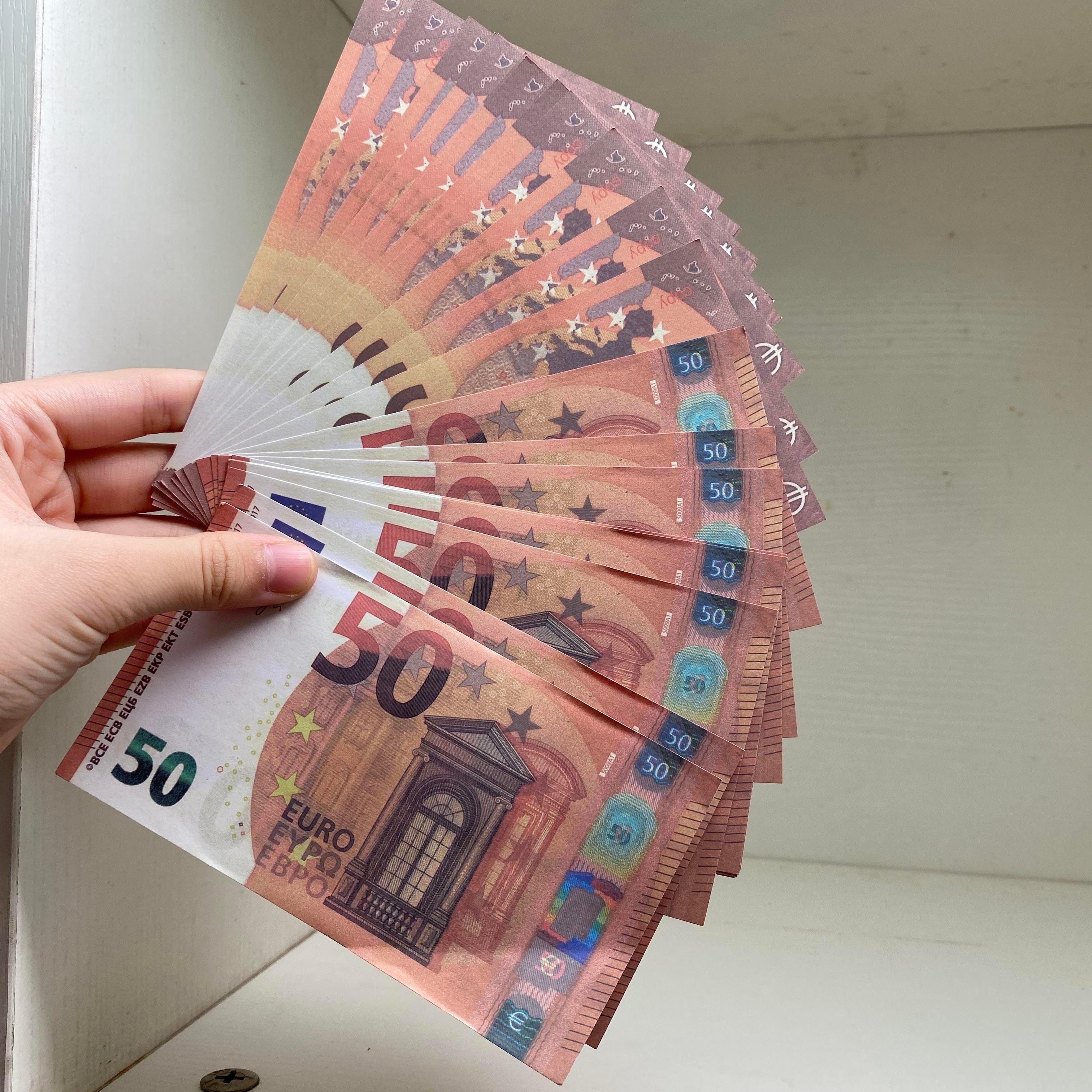 Dinero 100pcs / paquete Billete de billetes Juego de papel realista / Euro / Dólar EE. UU. Copia o niños Most PROP TOYE204 Familia WDEOD