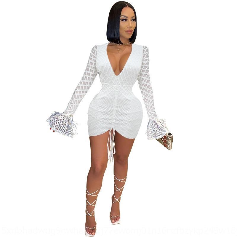 JS11 Vestido de Bodycon Llano Irregular Vestido Asimétrico Ropa Delgada Vestidos de Cadera Manga Corta Lady Pliegues Pleats Forma hermética Camisas largas LJJA25