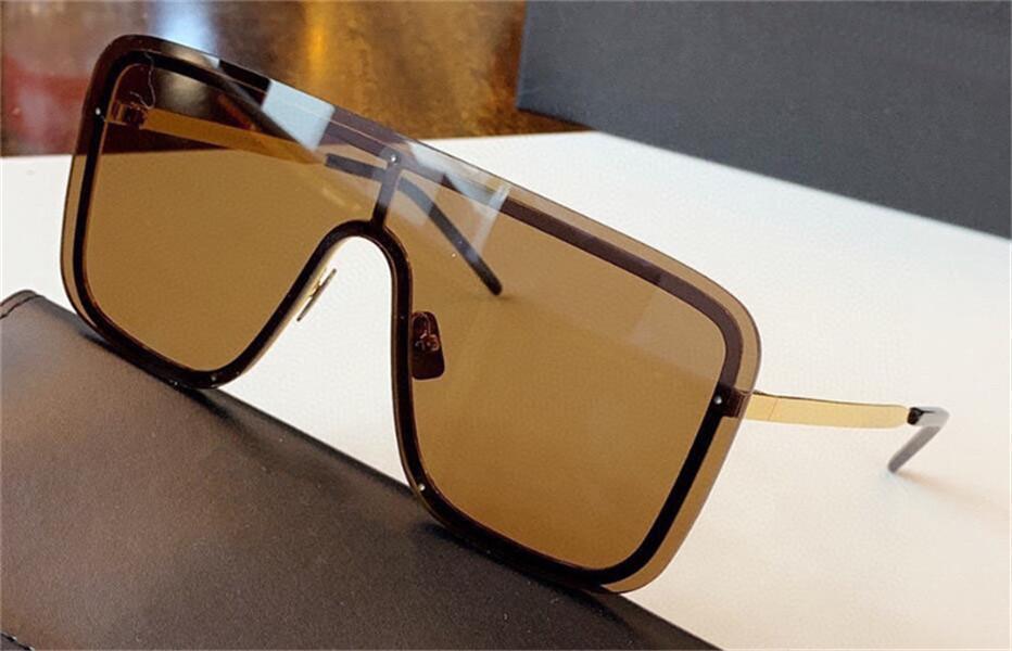 Новые моды дизайн Солнцезащитные очки 364 Безрамное Щит объектив Металл Рамка Авангард Показать Стиль УВ400 Защитные очки Высочайшее качество