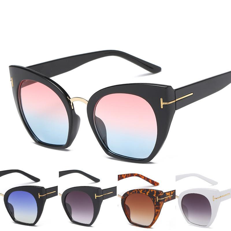 RSELDN أحدث نظارات شمسية نصف بدون شفة النساء العلامة التجارية مصمم واضح عدسة الشمس نظارات للنساء أزياء مكبرة خمر oculos