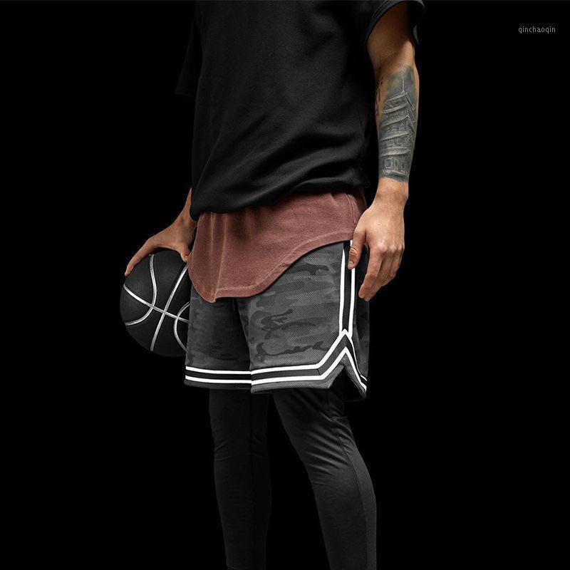 Pantalones cortos de deportes Secado rápido de los hombres Malla transpirable Pantalones de fitness sueltos Correr Baloncesto Entrenamiento de cinco puntos Pantalones de cinco puntos1