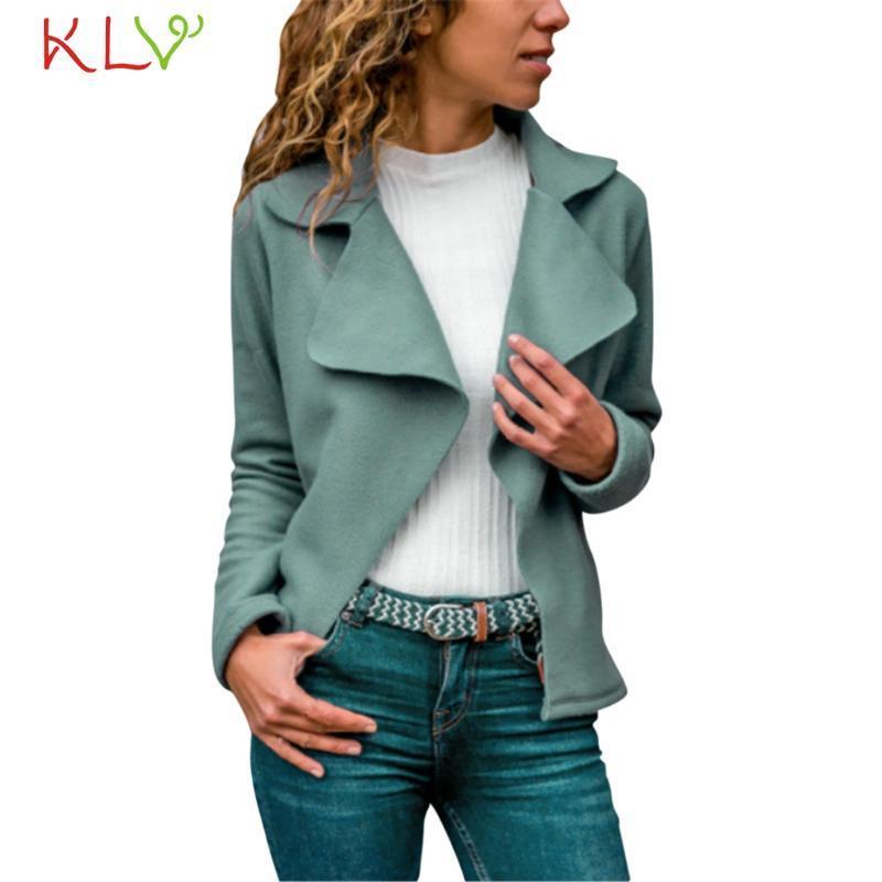 Veste femme élégante daim Slim revers cardigans manches longues manches longues hiver casual coupe-vent plus taille 2020 vestes de survêtement 19AUG