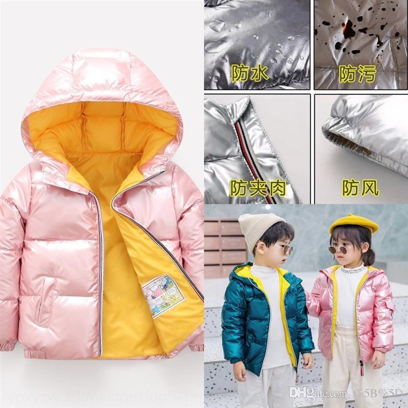 DXBF Parkas Jacke Down Kind Wintermantel Kinder Jacken Ente Daunen Mädchen Verdicken Winter Oberbekleidung Kinder Warme Kleidung Baby