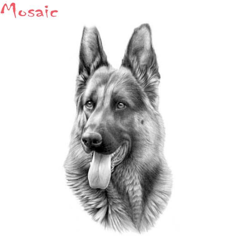 German Shepherd,Animal,Diamond Embroidery,Diamond Painting,Cross Stitch,5D,square,Rhinestone,Mosaic,Wall,Kits,Home,Decor