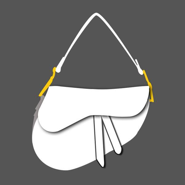 С коробкой 2020 Saddle Bag Designer Ручная женская сумочка Новая буква Сумка на плечо Качество Сумка Messenger Soddal Quality