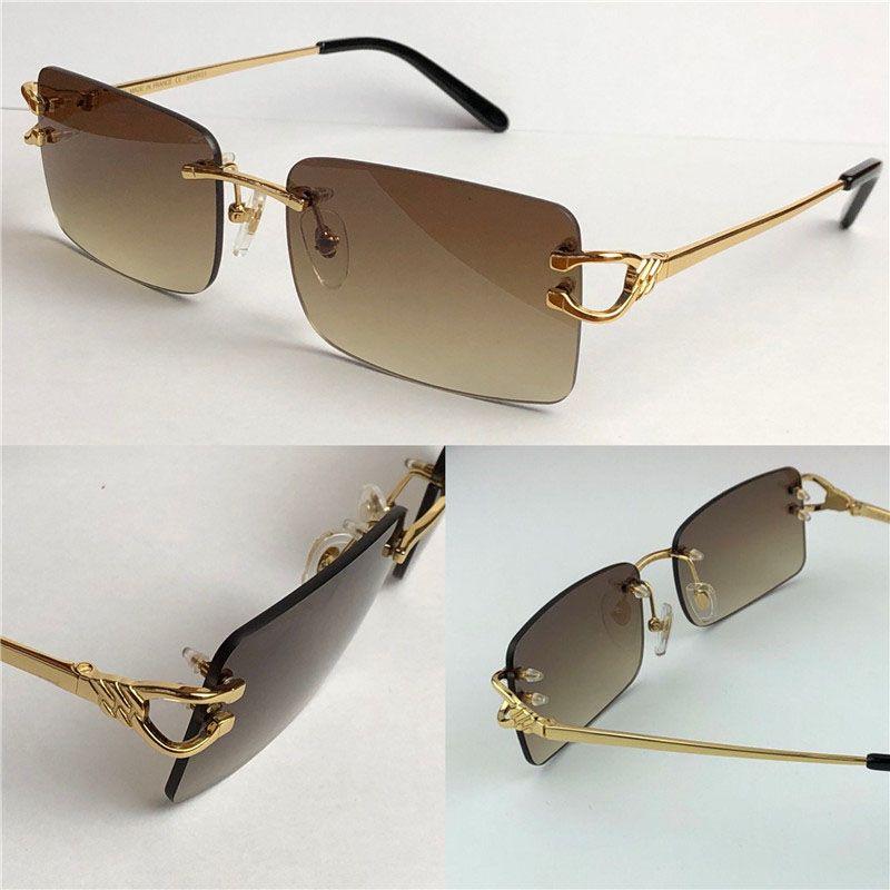Bester Verkauf Großhandel Outdoor Männer Mode Sonnenbrillen 3645631 Frameless Square Kleine Rahmen Retro Modern Avantgarde Design UV400 Eyewear