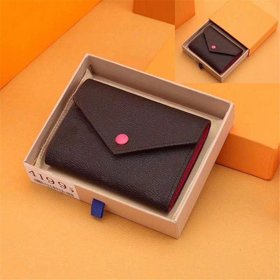 2020 модный кошелек оптом женские многоцветные монеты кошелек короткий кошелек цветной держатель карты оригинальная коробка для женщин классический карманный камень молнии