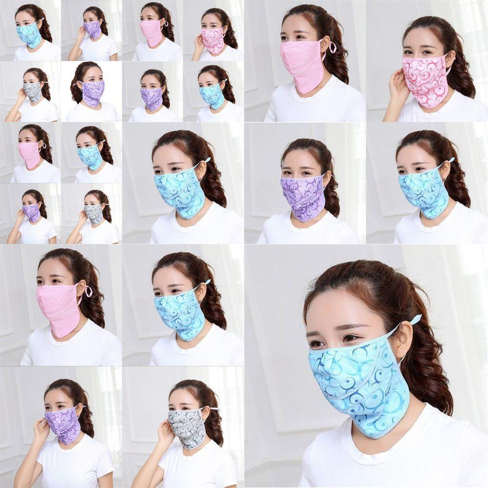 Respirateurs Ventilation Masque adulte Impression Point d'onde Respirant Masque Visage de la bouche Été Sunscreen Lavable Barr01