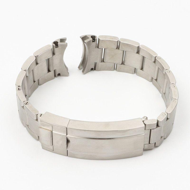 20mm 904L Edelstahl Armband für Fit Rolle-x Submariner Silber Special Bogen Ende Armband Armband Männer Schmetterlingsschnalle