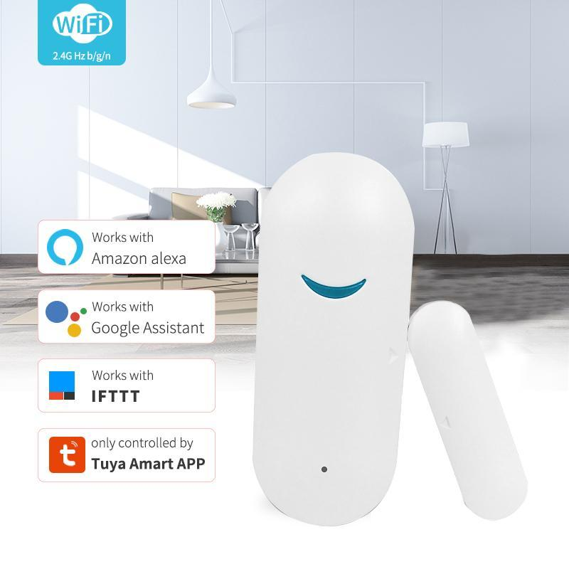 5 Наборы Tuya Датчик Дверной безопасности Дверной безопасности Тревога WiFi Дверь Открытый датчик Alexa Совместимый DIY Установка Сигнализация Для Дома