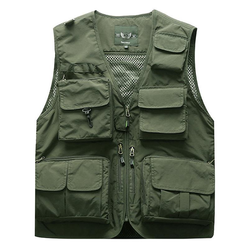 Мужские жилеты на открытом воздухе тактический рыбацкий жилет куртка мужчина сафари много карманов без рукавов туристы 5XL 6xL 7xL, 7898м
