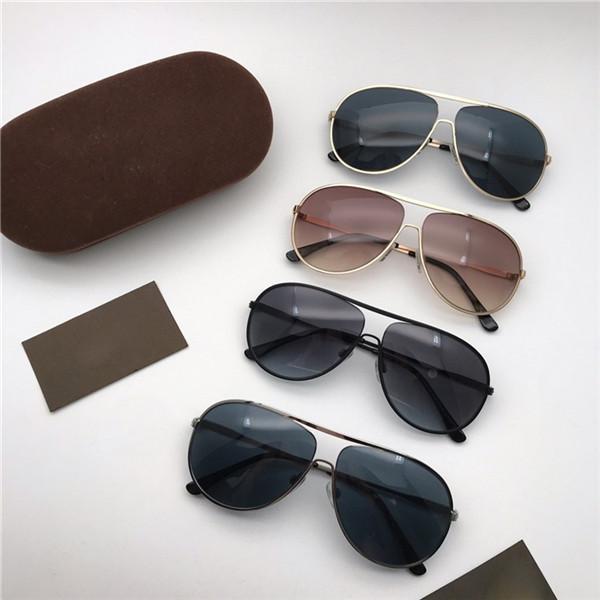 Óculos Sol para Moda Piloto New Homens Caixa Mulheres UV400 Eyewear Tom 450 Metal Sunglasses Designer Sunglasses Ford lentes tendência com 450 g de bhco