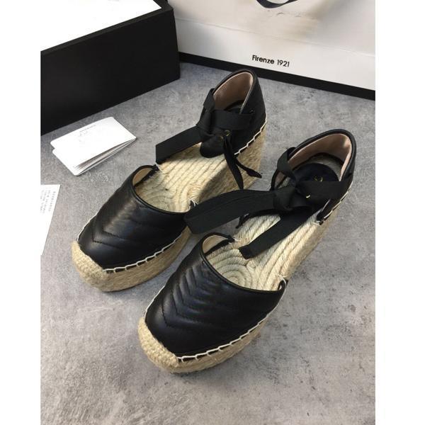 Fashion Womens Fisherman Shoes Baotou Sandálias Plataforma Luz Peso Feminina Sapato Taça Tecer Cruz Laços Laces Fisherman Sapatos com Caixa