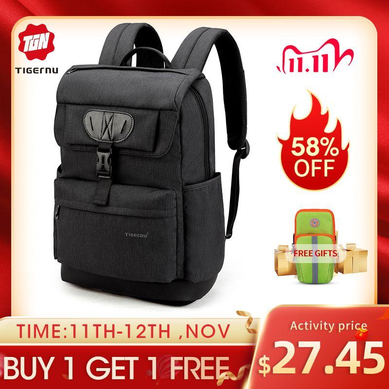 Tigernu Brand fashion Slim women USB charging Female 15.6 Laptop Backpack School Bag for boys girls Mochila Q1113