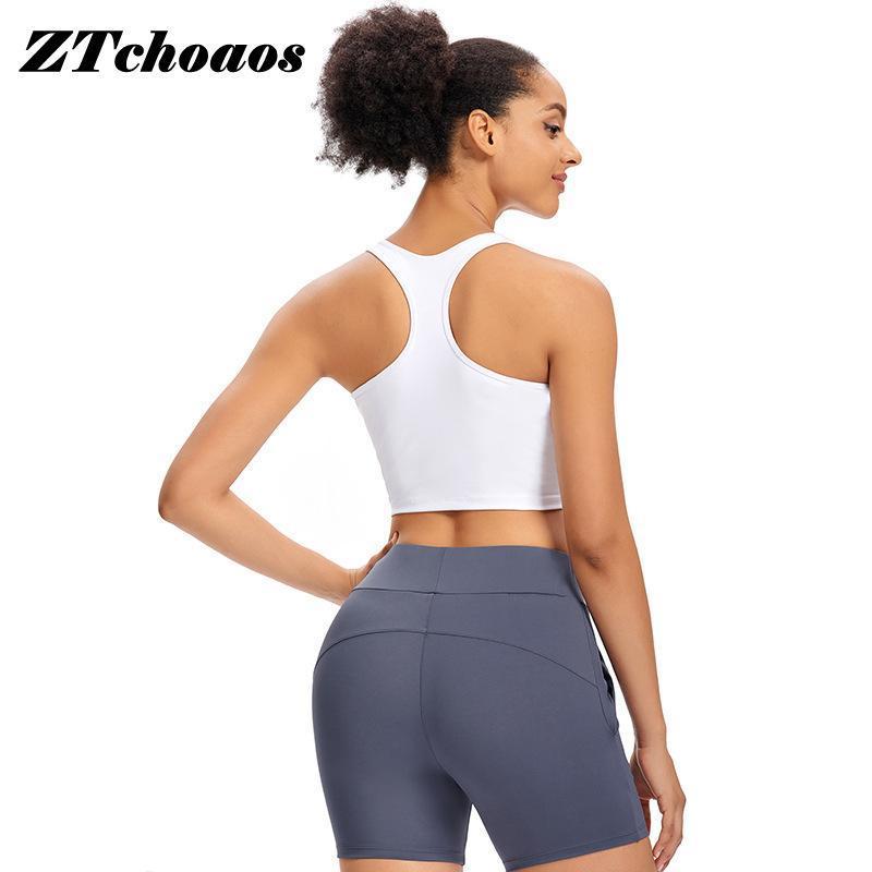 Cabelo de roupas de ginásio com almofada de peito Beleza de volta Esportes Underwear de alta intensidade Running Fitness Yoga Bra treino tops para as mulheres