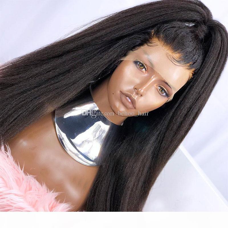 Italienisch Yaki gerade 5 * 4,5 '' seide top volle spitze menschliche haarperücken für schwarze frauen leichte yaki seidengrund spitze frontperücken