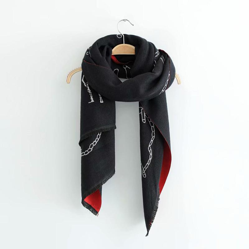 Весна зима женщин двойной жаккардовый имитация кашемировые теплые шарфы высококачественный длинный стиль шарф шальс TB3512