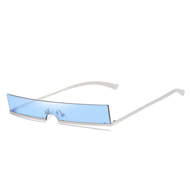 Mode Femmes Lunettes de soleil pour les yeux de chat Cadre en métal Cadre Petite lunettes de soleil Vintage Lunettes Mesure Lunettes Extérieur anti-UV conduite lunettes UV400