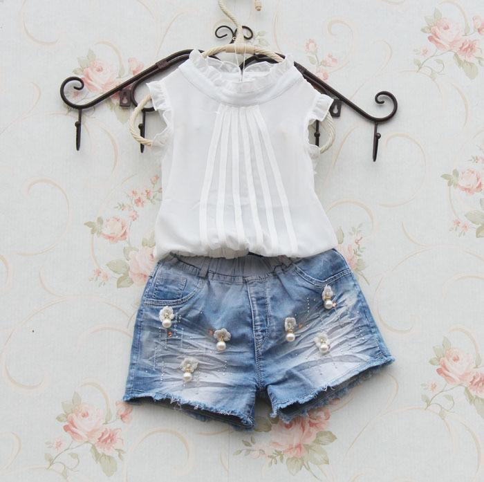Girls White Shirt Sleeveless ChiffonTops for Teenage School Girl Solid Color Lace Blouses Cool Shirts for Toddler Child Clothes Y200704