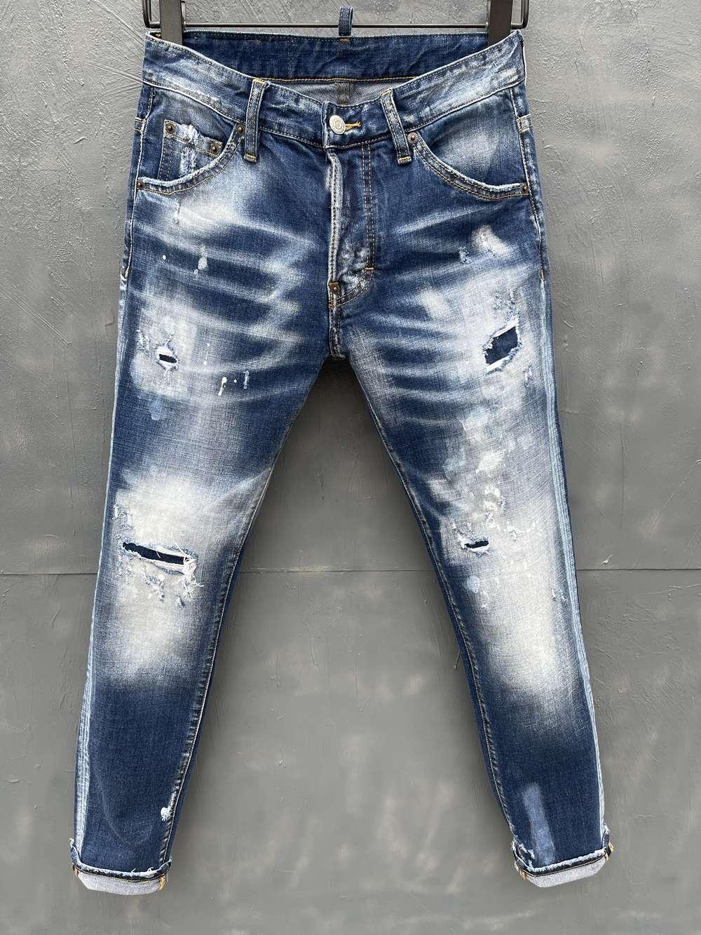 2021, Die neue Markenmode Europäische und amerikanische Sommermänner-Jeans sind Männer Casual Jeans LT029