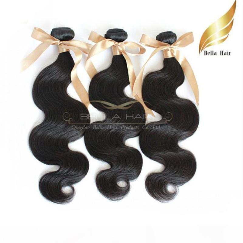 8A 100% Vierge Malaisienne Cheveux humains 3Pcs Lot Body Wave EXTENDUES DE CHEVEUX DOUBLE DOUBLE TRADIENCE Teins Bellahair