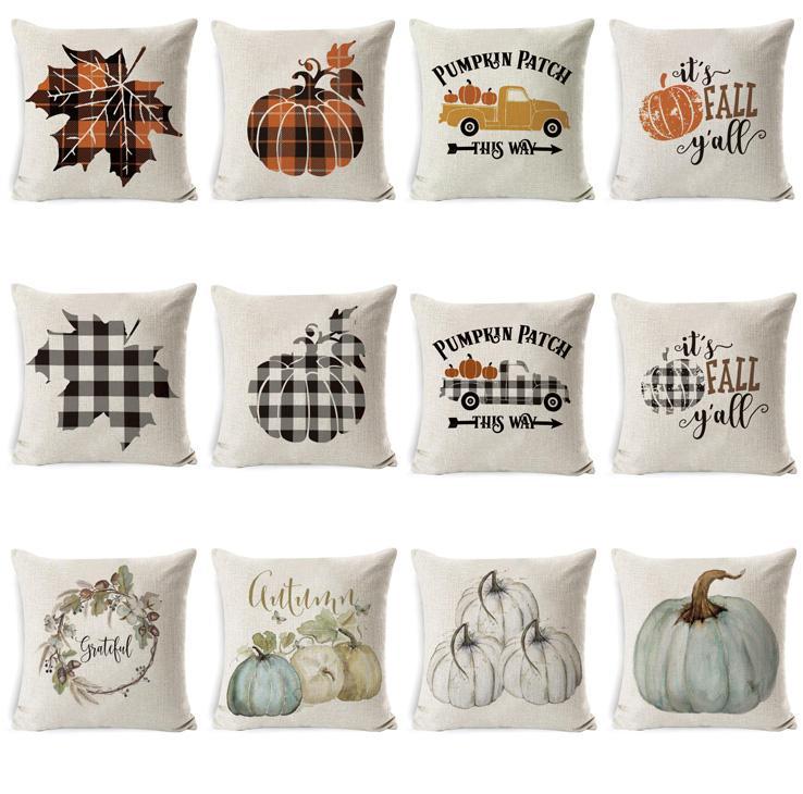 Halloween Pillow Case Pumpkin Sofa Throw Pillow Cover Printed Pillow Covers Plaid Pillows Cases Pillowslip Car Office Home Decor SEA GWC4220