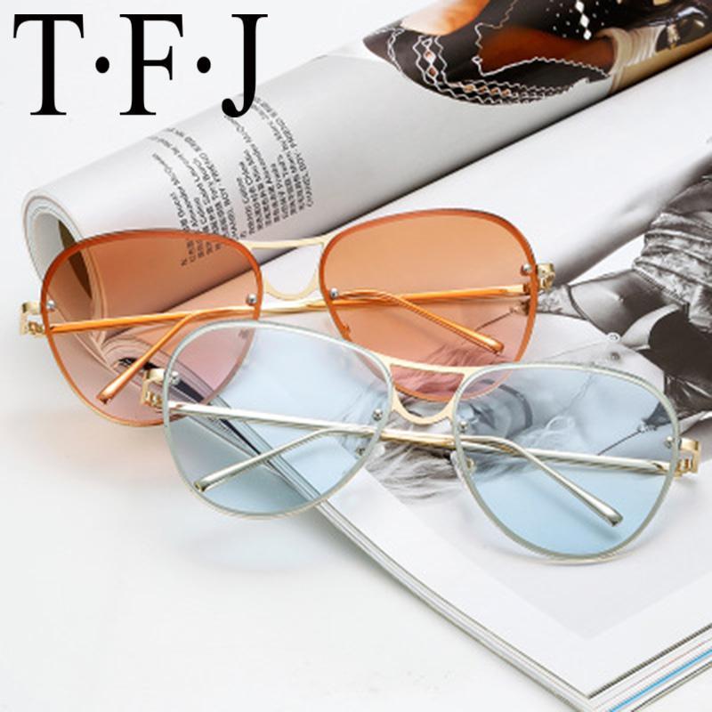 Luxusfrauen Sonnenbrille Frauen Brillenbrille Marke Frosch Spiegel Zonnebril Bunte Straßengläser Lunettes de Soleil Homme UV 400