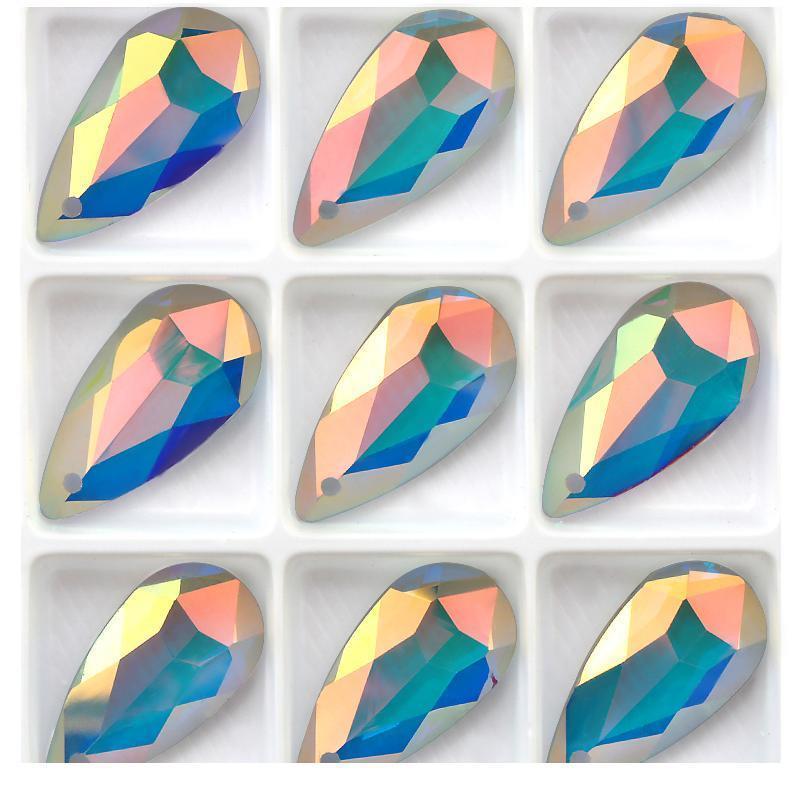 12x24mm cristallo waterdrop perline perline di vetro pendente in cristallo cristallo di cristallo strass per orecchini collana gioielli fai da te accessori jllvdt