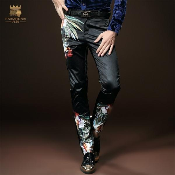 Fanzhuan Free Shipping New fashion male trousers men's casual Slim spring black personality 518030 in stock Pencil Pants Y1114