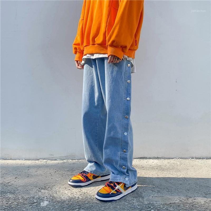 Men's Jeans Firtranch Spring / Fall Men / Woman American High Street Ins Substry Свободные Широкие Джинсовые Брюки Шип-Хмель-Лэнг Папа Брюки1