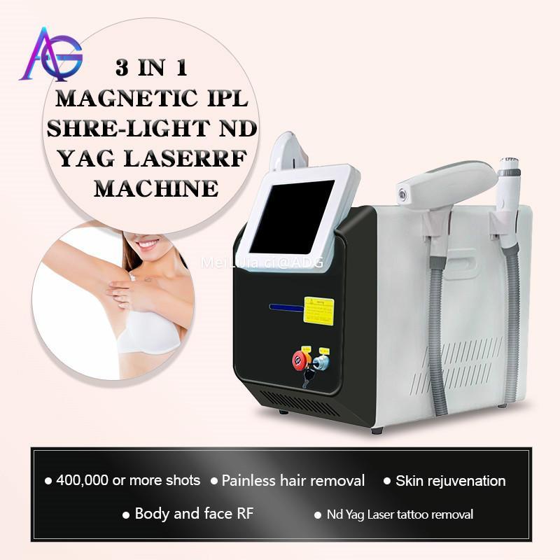 2020 MULTIFUNCION MULTIFUNCION IPL Remoción de cabello Láser ND YAG Láser Máquina de eliminación de tatuaje RF Face Lift Elight Opt SHR IPL Beauty Machine