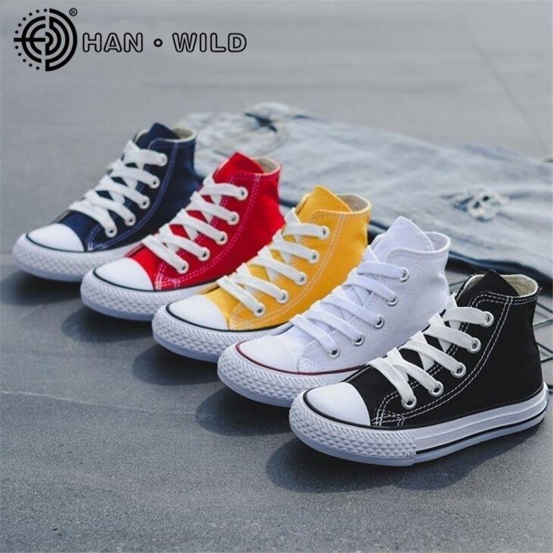Bambini per Ragazza Boy Sneakers Traspirante Tela Bambino Bambini Bianco Casual Bambino Flat Brand Scarpe sportive 201201
