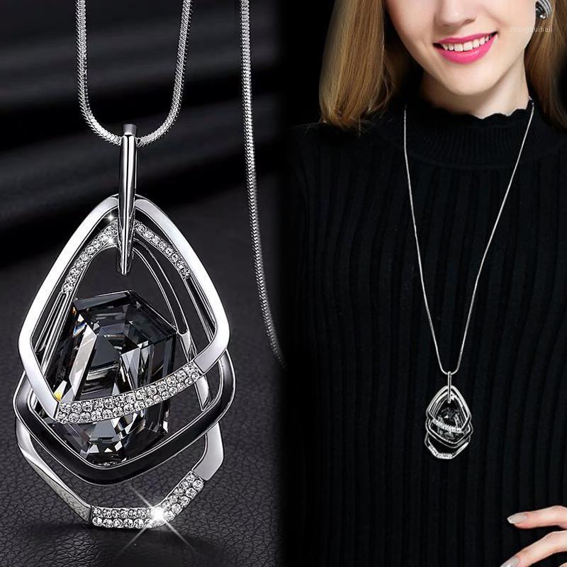 Collane lunghe Pendenti per le donne Maxi Collier Femme Catena geometrica Catena di moda Collana di moda Deciso Accessori Collar Accessori Gioielli 20201