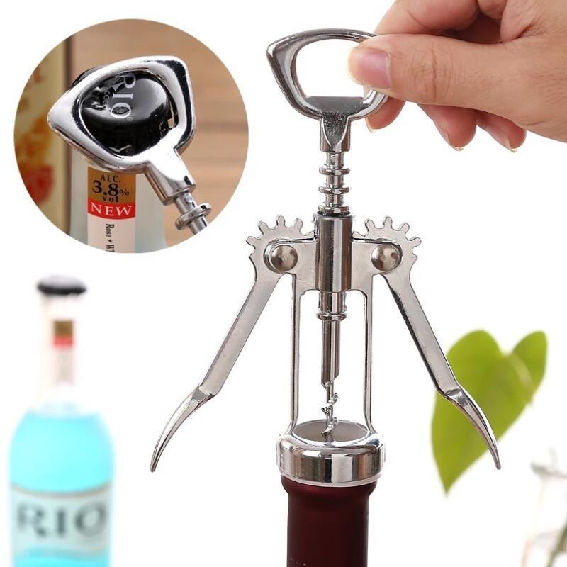 Wine Bottle Opener Glossy Silver Zinc Alloy Corkscrew Wine Opener High Grade Wine Opener Promotion Gifts LX4183