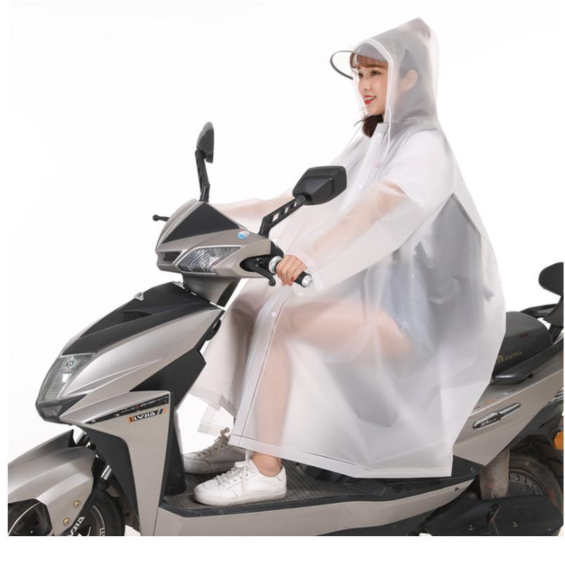 1 unid de buena calidad multifuncional impermeable plástico para adulto 3 en 1 impermeable con capucha, mujeres, bicicleta, motocicleta, motocicleta, jlltuq