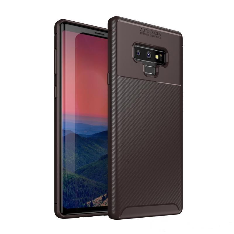 TPU a prueba de golpes ultra a prueba de golpes TPU Funda trasera de la fibra trasera de la fibra de carbono para Samsung Note 9