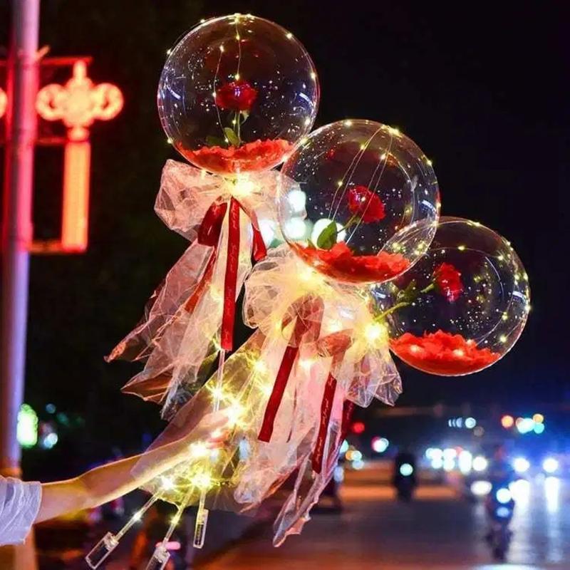 Светодиодный светлый воздушный шар розовый букет из гелия прозрачные баллоны свадьбы день рождения 2021 с новым годом рождественские украшения