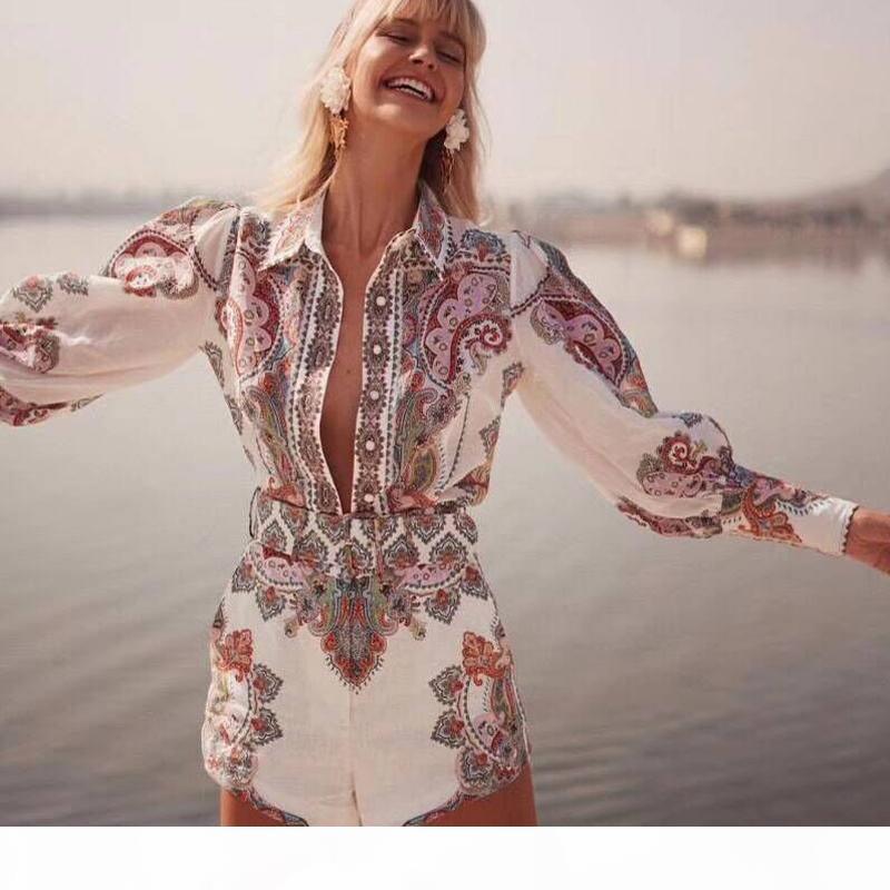 Femmes Vêtements 2019 Fashion Spring and Summer Casual Femmes Ensemble Super Belle couleur Coton Two Piece Set Top and Pants