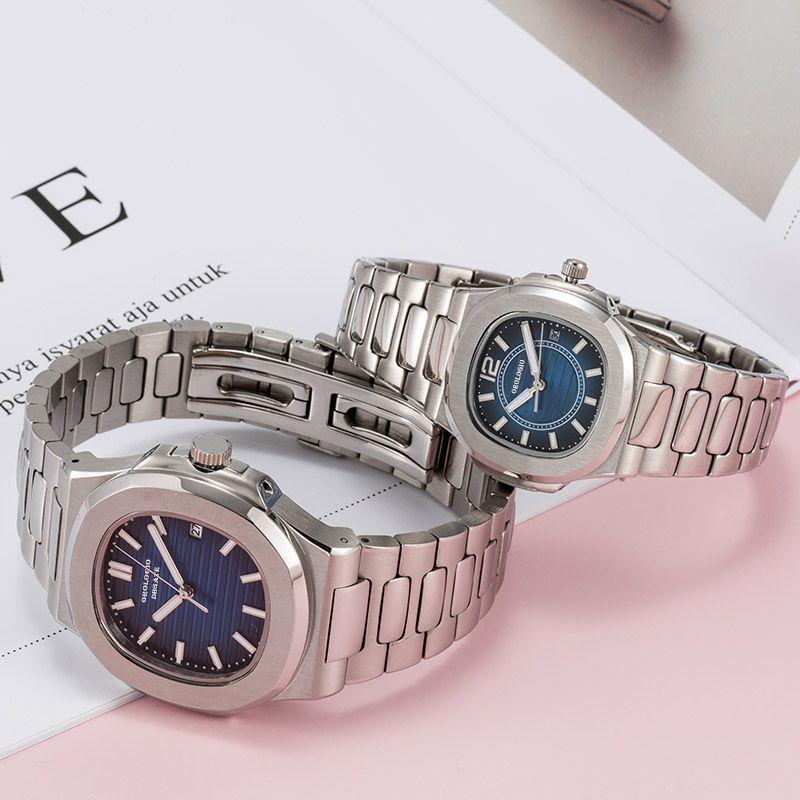 Montre de luxe mens 자동 시계 레이디 드레스 전체 스테인레스 스틸 사파이어 방수 빛나는 시계 커플 스타일 U1 손목 시계