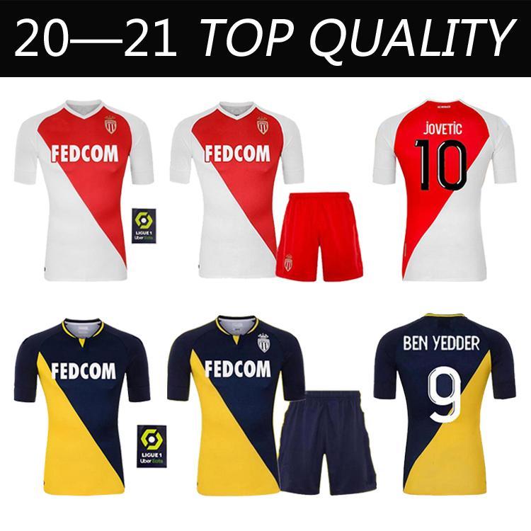 2020 2021 As Monaco Soccer Jerseys Maillots De Foot 20 21 B.Badiashile Ben Yedder Gelson Fabreags Golovin Men Kids Henry Football Shirt