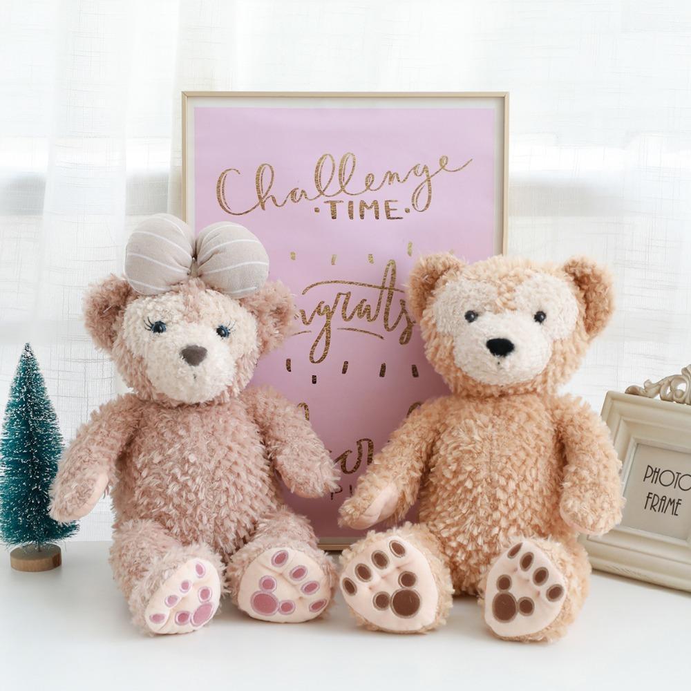 Nouveaux mignon 1Pcs 43cm Duffy Bear et Shelliemay Bear Peluche Peluche Animaux Peluche Poupée Soft Poupée Pour AnniversaireKids Toy cadeau Y1209