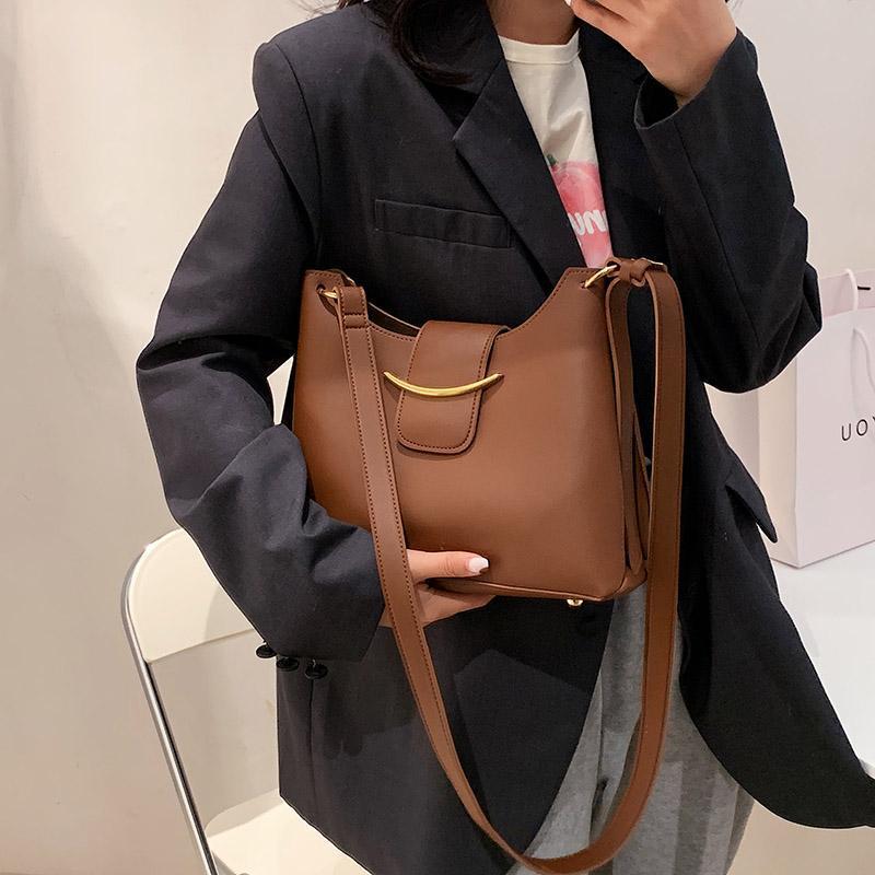 Designer einfach gute tasche jacol qualität luxus crossbody frauen 2021 Geldbörsen Handtaschen PU-Leder-Schulter einfacher kleiner Eimer fiqro