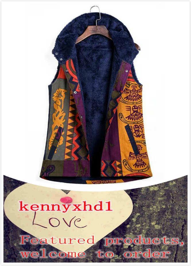 Novo tamanho grande algodão e impressão de linho feminino mais veludo sem mangas colete de algodão com capuz quente e elegante