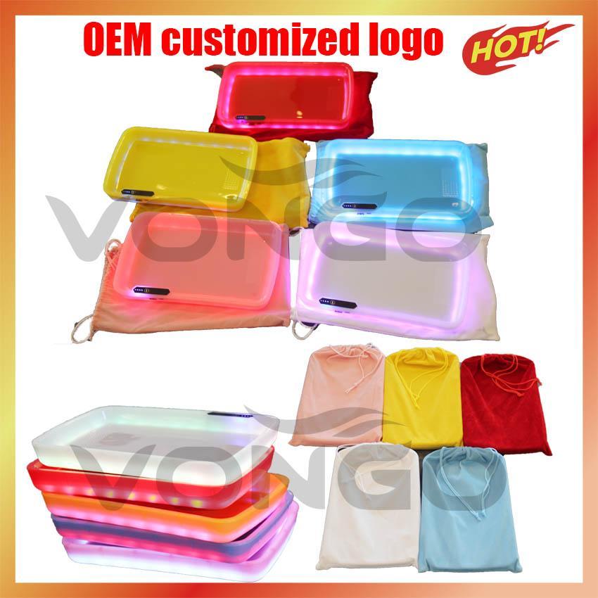 OEM Personalizzato Logoled Rolling Glow Vassoio Regalo di Natale Set Glowtray Imballaggio Box di carta 420 Fiore di erbe secco