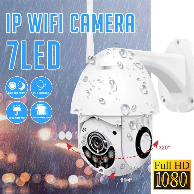 2pcs 1080p Stockage Nuage Sans fil PTZ PTZ Caméra IP Speed Dome CCTV Caméras de sécurité Outdoor Deux voies Audio P2P Caméra WiFi