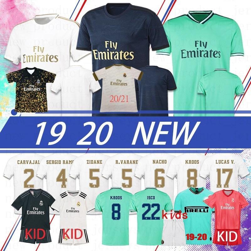 NCAA Thai Hazard Real Madrid Soccer Jersey 2020 Spagna Camicia da calcio Benzema Sergio Ramos Camisetas de futbol uomo Modric Kroos Bale Mai