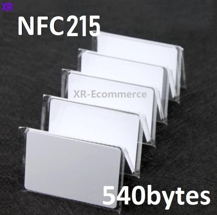 Tarjeta de NFC en blanco blanco puro 13.56MHz NFC215 Tarjeta PVC 540BYTES RFID PROXIMIDAD TAGA NFC Acabado brillante / Acabado mate para el sistema de control de acceso