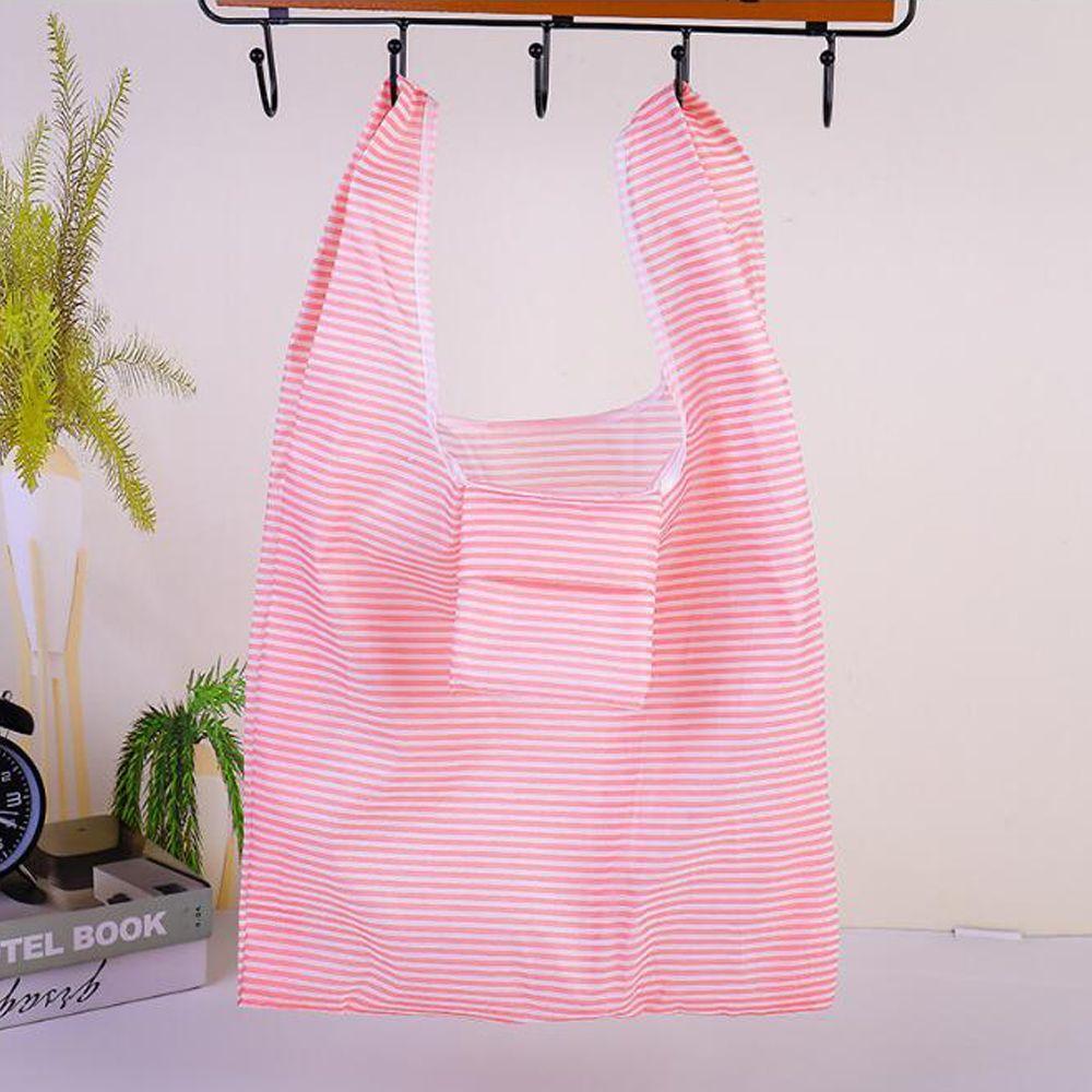 Nuevas bolsas de compras plegables bolsas de comestibles reutilizables Compras plegables Bolsa de asas de almacenamiento Lavable Lavable Ligero Ligero Eco Amistoso 6 Colores