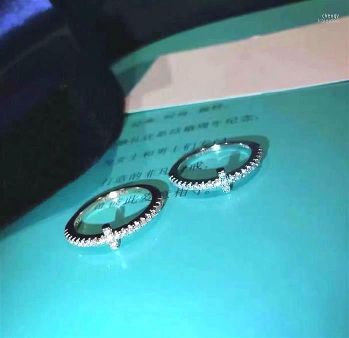 Hochzeitsringe Frauen Schmuckdesigner Marke Verlobungsring für Männer und 925 Sterling Silber Brief Schmuck Zubehör Gifts1